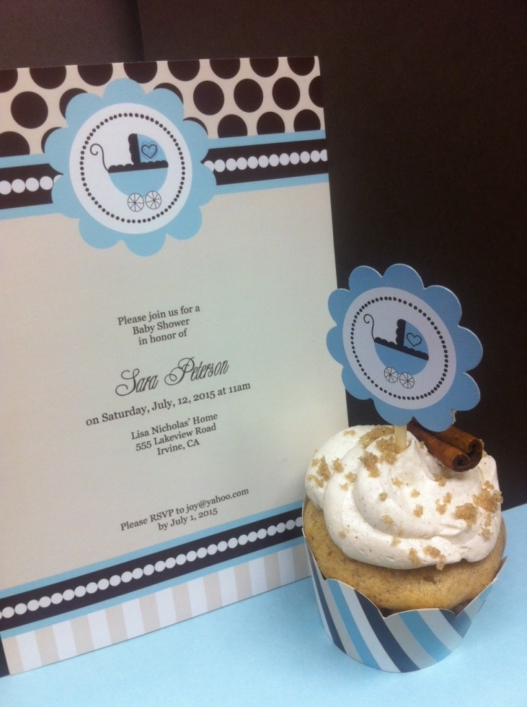 blue baby shower mod party kits
