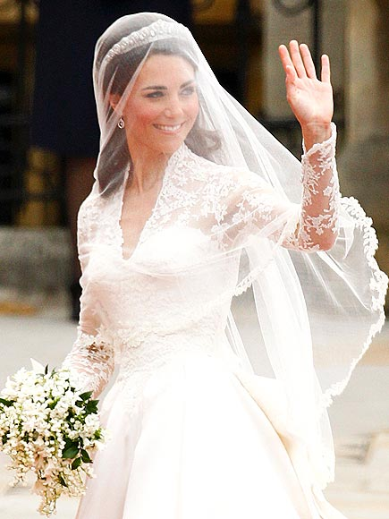 I could never say goodbye to lace, especially after seeing this gown on Catherine, Duchess of Cambridge. Credit: Kai Pfaffenbach/Reuters/Landov
